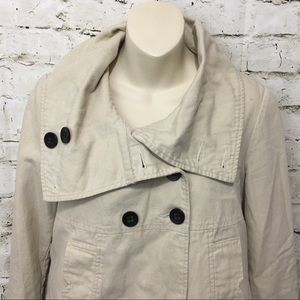 f88e9f335b Anthropologie Jackets   Coats - Tulle Anthropologie Beige Canvas Swing  Jacket